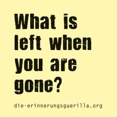 What is left when you are gone